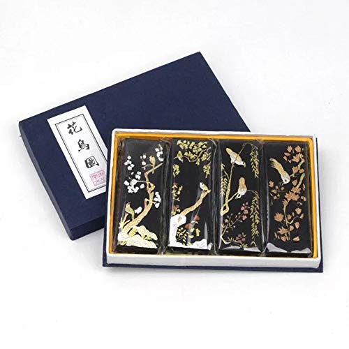 MT018 Hmayart Quality Ink Stick Block Set for Sumi-e Painting Gongbi Drawing Ink Painting and Brush Shodo Calligraphy (MT018 Black Set) (MT018 Black Set)
