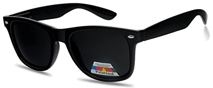 3d635a3224 Amazon.com  SunglassUP Vintage 80 s Classic Polarized Trendy Spring Hinge  Retro Style Sunglasses  Clothing