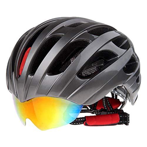 BTAWM Helmets Rennradhelm Brillenabdeckung Fahrradhelm 32 Vents Fahrradhelme Brille 3 Objektiv Stil 3