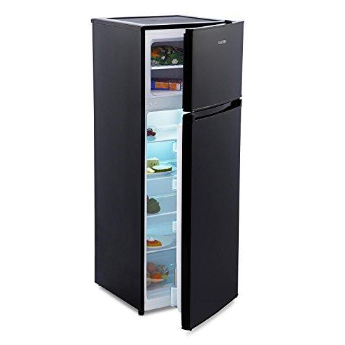 Klarstein Height Cool Black Kühl-Gefrierkombination Kühlschrank mit Gefrierfach (41 Liter Tiefkühl-Fach, leise 42db, 171 L Standkühlschrank) schwarz