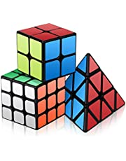 Vdealen Speed Cube Set, Roxenda Magic Cube Set de 2x2x2 3x3x3 Pyramid Smooth Puzzle Cube
