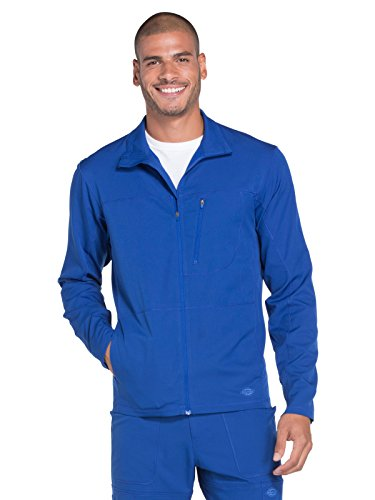 Dickies Dynamix Men's Zip Front Warm-Up Solid Scrub Jacket Large Galaxy Blue by Dickies