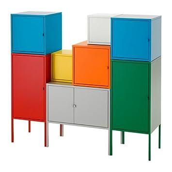 IKEA de almacenamiento combinación, blanco/verde/azul/amarillo, rojo/naranja/gris 51 1/8 x 46 1/8 12204.20520.1430: Amazon.es: Jardín