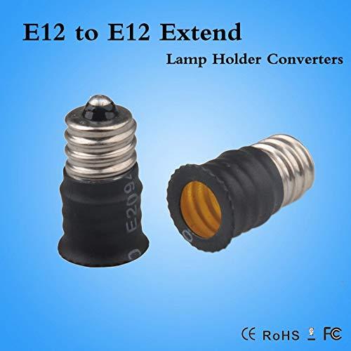 Halica E12 to E12 Extend Extension Base LED Bulb Lamp Holder Light Adapter Socket Converter White