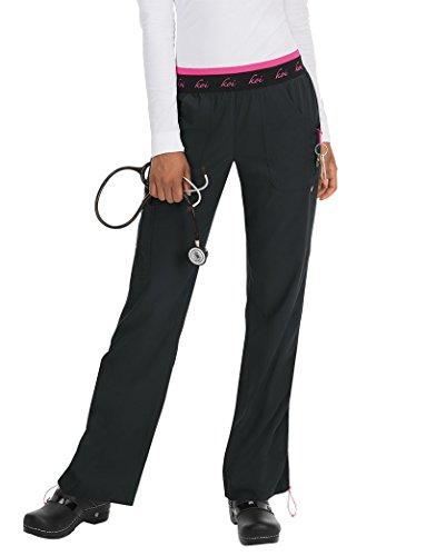 Lite Pocket (KOI Lite Women's Spirit Logo Elastic Waistband Scrub Pant XXX-Large Black)