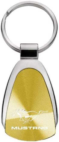 KCGOLD.MUS Gold Teardrop Upgrade Your Auto Au-TOMOTIVE Gold Compatible Keychain and Keyring for Ford Mustang