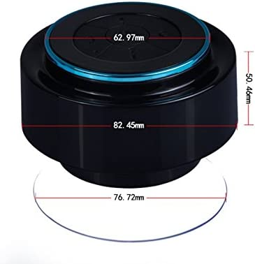GRANDEY Shower Speaker Waterproof Speaker IPx7 with Bluetooth, Fully Submersible Portable Design Play Wireless Music with Crisp Audio Deep Bass - F012 Black-red