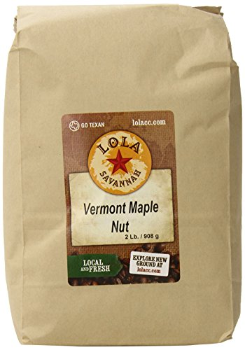 (Lola Savannah Vermont Maple Nut Ground Coffee - Arabica Beans with Just A Hint Of Nut Flavor   Caffeinated   2lb Bag)
