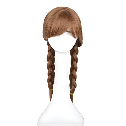 Hiliss Cosplay Costume Hair Wig Brown Party Wig Anna