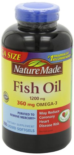 031604025861 - Nature Made 1200mg of Fish Oil, 2400 per serving, 360mg of Omega-3, 300 Softgels carousel main 8