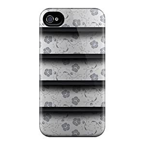 Ultra Slim Fit Hard FutureStarCase Case Cover Specially Made For Iphone 4/4s- Flower Shelf