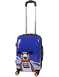 Ed Heck Moon Dog Hard Side Spinner Luggage 21-Inch, True Blue, One Size