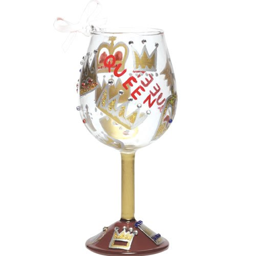 Lolita Holiday Queen Mini-Wine Ornament (Ornament Wine Lolita Glass)