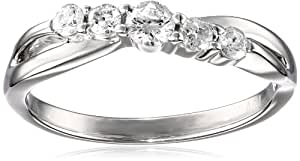 Sterling Silver 5-Stone Diamond Anniversary Ring (1/2 cttw, H-I Color, I1-I2 Clarity), Size 6