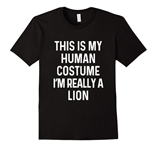 Mens Lion Costume Ideas (Mens Funny Lion Costume Shirt Halloween Adults Kids Men Women Large Black)