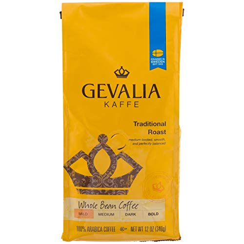 (GEVALIA Traditional Roast, Whole Bean Coffee, 12 Ounce )