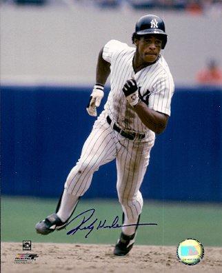Autographed Hof'R Rickey Henderson New York Yankees Photo