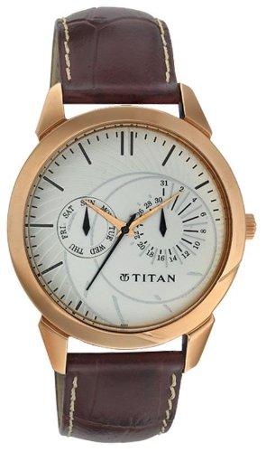 Titan Classique Analog White Dial Men's Watch   NE1509WL01