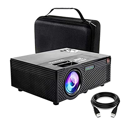 Video Projector   2400 Lumens Home Video Projector   Mini Projector with Stand   Theater Projector Supports 1080P   HDMI VGA AV USB Micro SD for Home Entertainment, Party