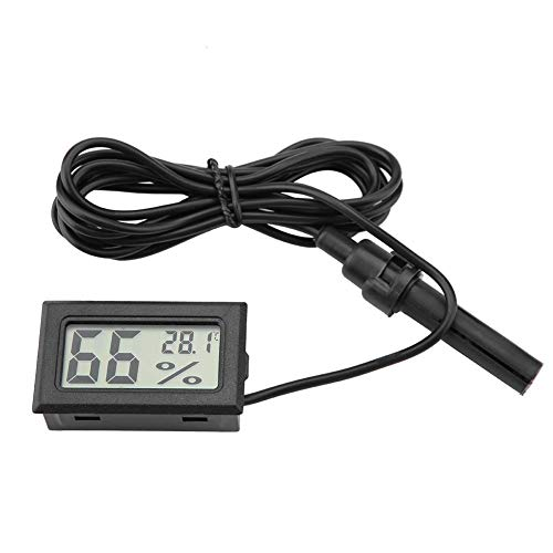 FTVOGUE Embedded Mini LCD Thermometer Hygrometer with External Probe for Incubators, Brooders, Reptile Tank, Aquarium, Fish Tank