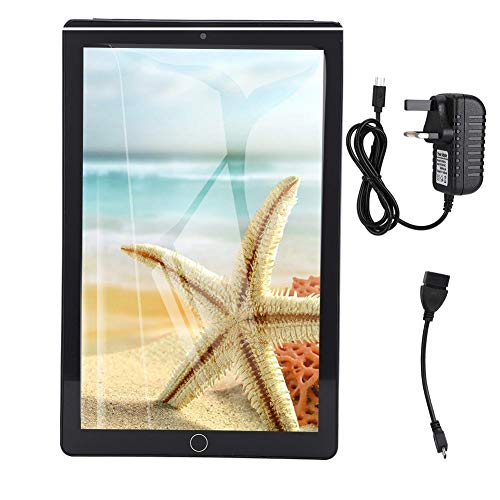 Oumij Portable Smart Tablet 10.1-Inch 1280 X 800 4+64G 4000mah for Android 3G Call Smart Tablet Black 110-240V (UK)