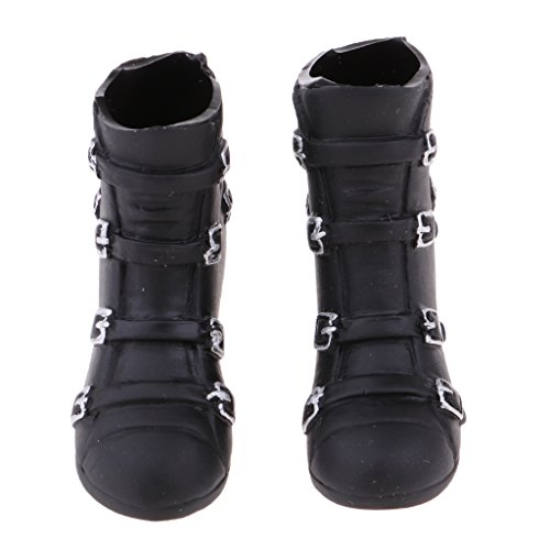 Baoblaze 1/6 Scale Female Fashion Wedge Heel Knee Boots for 12'' Phicen Kumik Doll IVVS0h