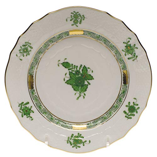 Herend Chinese Bouquet Green Porcelain Bread & Butter Plate