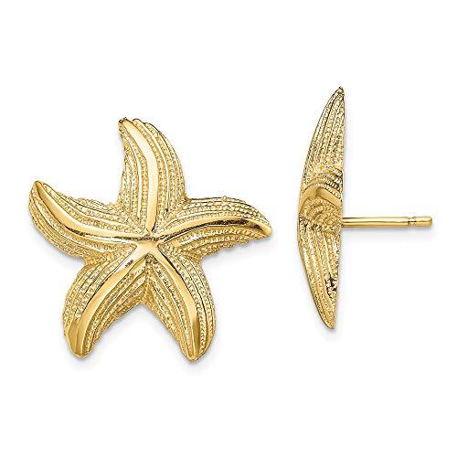 14k Yellow Gold Starfish...