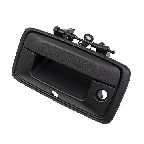 (BROCK Tailgate Rear Gate Handle Textured Black 14-15 Silverado Sierra 1500 2015 2500HD/3500HD Pickup Truck 23448679 23448681)