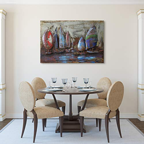 Empire Art Direct ''The Regatta 2'' Mixed Media Hand Painted Iron Wall Sculpture by Primo by Empire Art Direct (Image #2)