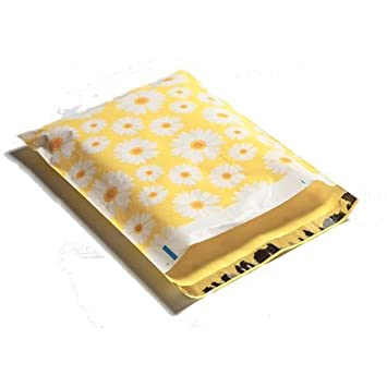 Amazon.com: 100 10 X 13 Yellow Daisy Diseñador mailers Poly ...