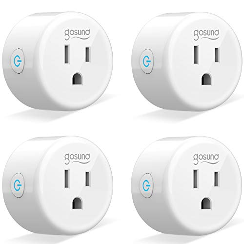 Wi-Fi Smart Plug Outlet Mini Work with Alexa, Google Home, IFTTT, No Hub Required, ETL and FCC Listed by Gosund (4 Pack) [Upgraded Version]