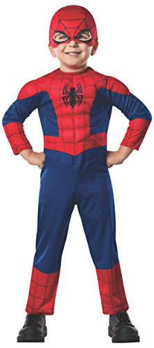 Spiderman Costumes For Toddler Boys (Rubie's Marvel Ultimate Spider-Man Toddler Costume Toddler - Toddler One Color)