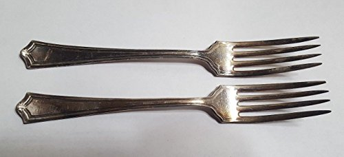 Rogers 1881 Silverplate (Pair of 1881 ROGERS A1 Silverplate Dinner Forks Set of 2)