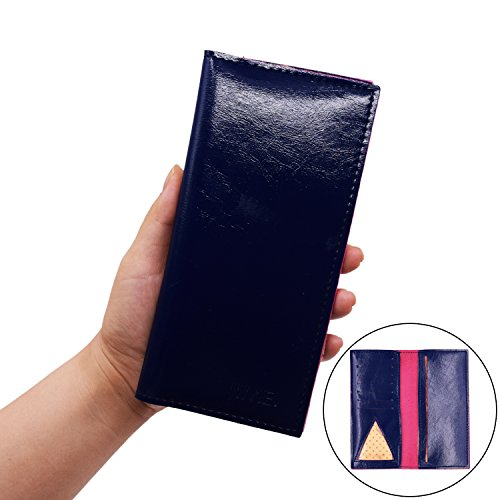 Caszel Premium Quality PU Leather Elegant Stylish Long Ladies Purse Passport Travel Wallet Credit Card Case Large Capacity Thin from C.A.Z
