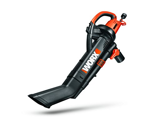 WORX WG509 TRIVAC 12 Amp 3-in-1 Electric Blower/Mulcher/Vacuum with Multi-Stage All Metal Mulching System ()