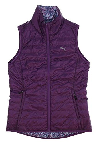 (PUMA New Womens PWRWARM Reversible Vest Small S Majesty 573285 06)
