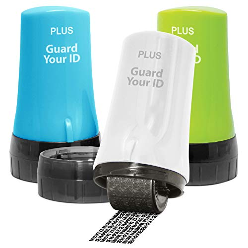 Guard Your ID Advanced 2.0 Roller Identity Theft Protection for Confidential Security Stamp (Regular 3-Pack, Mixed Color: Turquoise, Green, White)