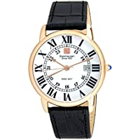Steinhausen Classic Delemont Swiss Quartz Black Leather Band Men's Watch
