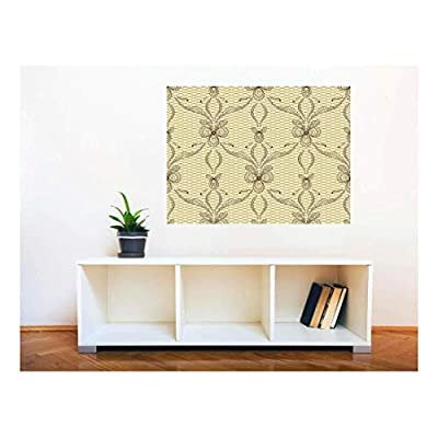 Removable Wall Sticker/Wall Mural - Lace Style Seamless Pattern | Creative Window View Home Decor/Wall Decor - 36