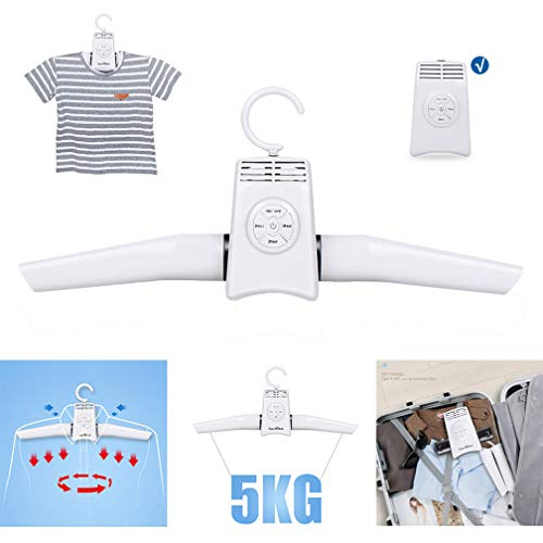 Electric Portable Dryers, Plastic Folding Drying Clothes Hanger, Safely Dry, Refresh, Eliminate Wrinkles and Odor, Gentle, Quiet, Easy to Use, Perfect for Travel