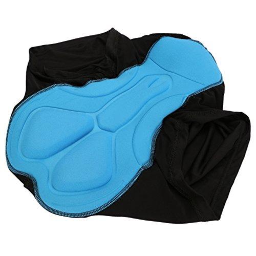 iMusi 3D Gel gepolstert Sitzpolster Herren Damen Radunterhose Coolmax Radfahren / Reiten kurze Hose Unterwäsche Boxer Shorts L in Schwarz Blau