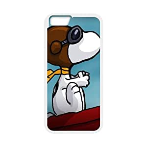iPhone 6 Plus 5.5 Inch Cell Phone Case White Snoopy Plastic Cell Phone Cases Clear GPQ