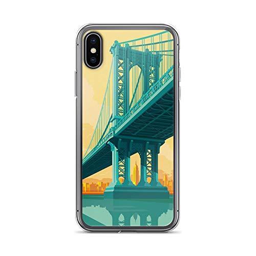 iPhone X/XS Pure Clear Case Cases Cover Manhattan Bridge New York City Landmarks Artwork]()
