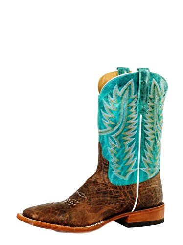 Horse Power Western Boots Mens Mud Bullfrog 10.5 D Brown Turq HP1605 (Bullfrog Shoes compare prices)