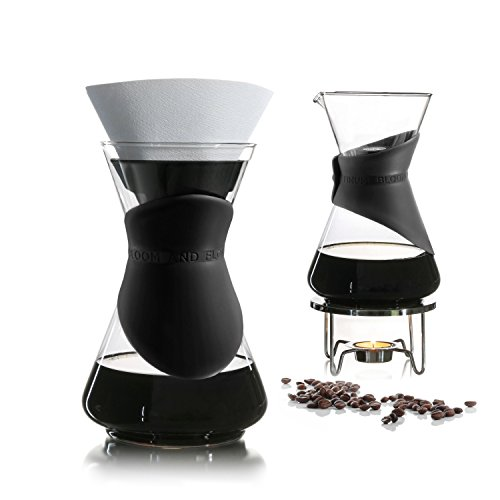BLOOM AND FLOW, black - pour over coffee maker (4 retail units per case) … by Finum