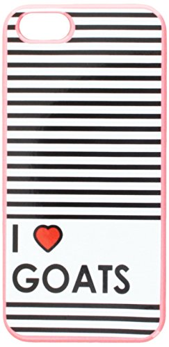 Graphics and More I Love Heart Goats Snap-On Hard Protective Case for iPhone 5/5s - Non-Retail Packaging - Pink
