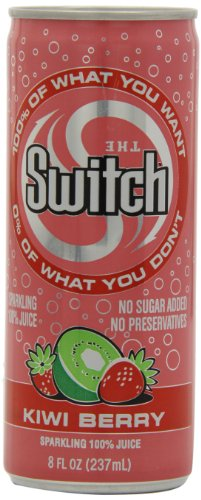 The Switch Sparkling Juice, Kiwi Berry, 8- Fl. Oz Cans (Pack of 24) (Kiwi Switch)