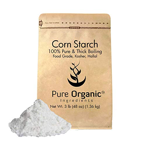 Corn Starch (3 lb.) by Pure Organic Ingredients, Thickener For Sauces, Soup, & Gravy, Highest Quality, Kosher, USP & Food Grade, Vegan, Gluten-Free, Eco-Friendly (Also in 4 oz, 8 oz, 1 lb, & 2 lb)