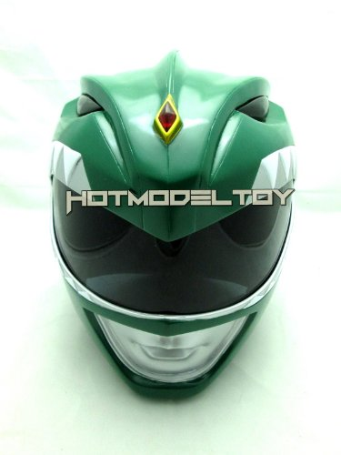 Green Power Ranger Helmet Cosplay Life Size